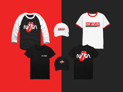 The Rolling Stones / Nasa - Mars Expedition Merch merch line red mars collaboration dad hat shirt band merch merch merch design vintage retro nasa rolling stones