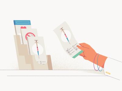 PrescribeWellness - Handouts illustration design healthcare health pharmacy shot handout