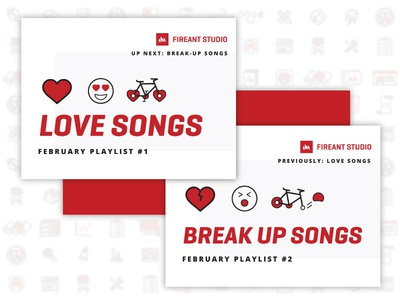 FAS February Playlists: Love / Break Up heart day valentines icons breakup up break songs love music spotify playlist