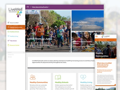 LiveWell Colorado Site Launch redesign announcement launch responsive website wellness health well live livewell