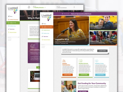 LiveWell Colorado Site Design design material launch website health colorado well live