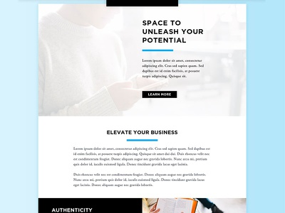 Co Working Space Website overlap rows grid shadow gradient website space coworking