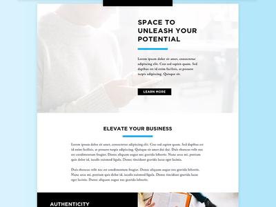 Co Working Space Website overlap rows grid shadow gradient website space coworking