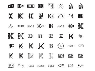 K23 Brand Experiments branding brand logo symbol icon 3 2 k k23