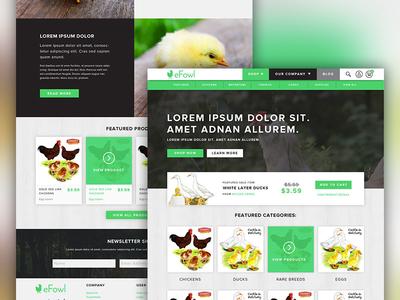 eFowl Site Design buy sale purchase ecommerce website hatch fowl efowl chicken branding brand