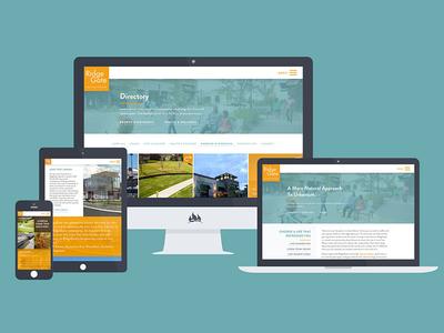 Ridgegate Website teal orange directory mockup devices responsive website community ridgegate