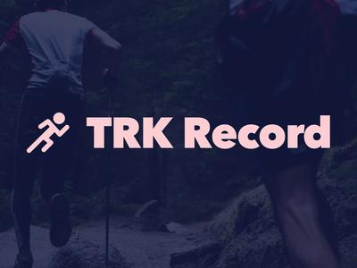 TRK Record Logo branding ios app running logo record trk track