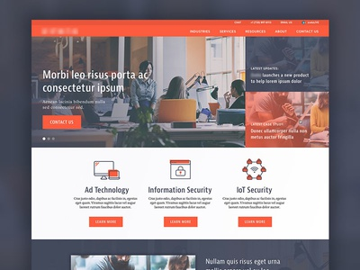Tech Company Homepage design website homepage up start startup company tech