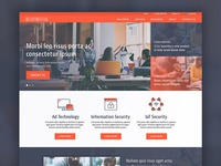 Tech Company Homepage