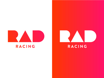 RAD Racing Logo 1 geometric logo race gradient racing rad
