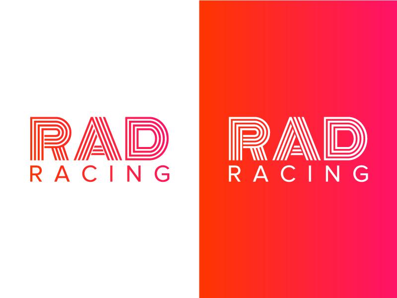 RAD Racing Logo 2 geometric logo race gradient racing rad