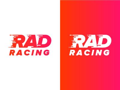 RAD Racing Logo 3 geometric logo race gradient racing rad