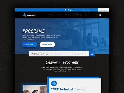 SecureSet Program Landing Page website company tech bootcamp school program secureset