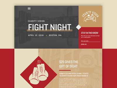 Fight Night Website #2 white website texture signup sign red overlay night homepage fight cream airy