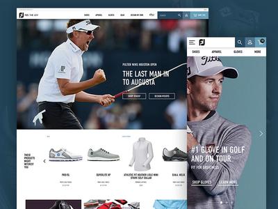 Footjoy Homepage Redesign footjoy golf home homepage sports ecommerce ecomm mobile desktop website
