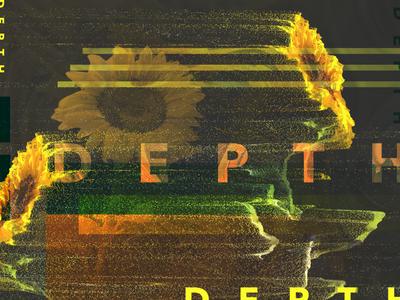 Depth Collage sunflower pixel art pixel depth map green orange yellow collage designer affinity flower depth