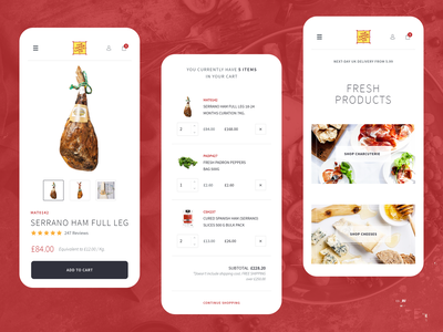 Tapas In Your Pocket ia website food delivery mobile ui mobile interactiondesign ux ui ecommerce design ecommerce app ecommerce