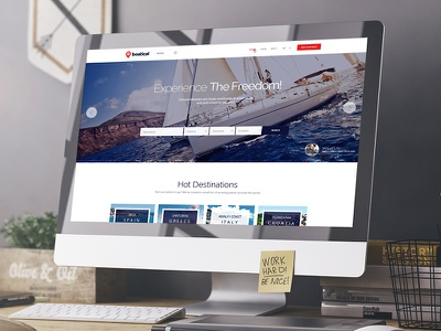 Boatical Homepage ui user interface ux web user experience web design ecommerce boat