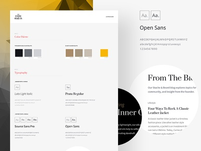 UI Styleguide ecommerce swatch web ui kit color form ui typography styleguide