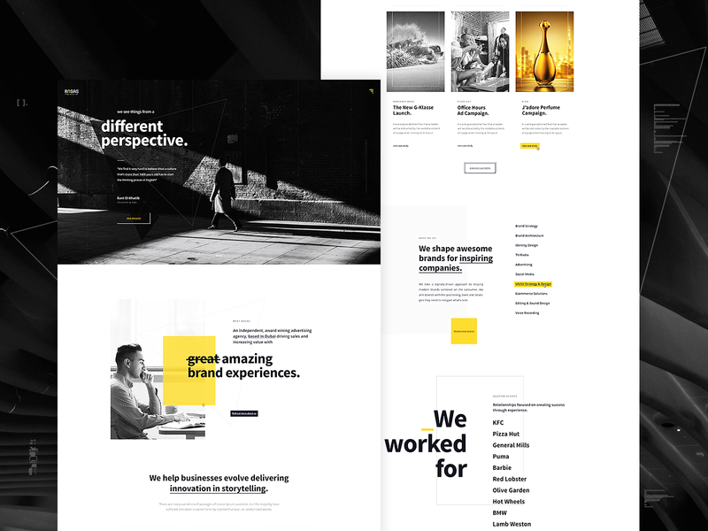 Rasas Homepage Design