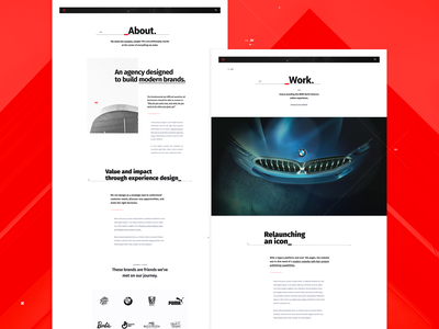 ST Agency _About / Work digital product typography agency modern red minimal clean website ui ux