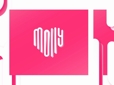 Molly + ❤ typography vector lettering illustration branding logo graphics design