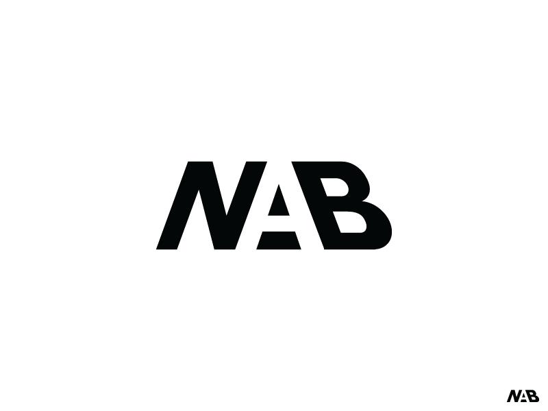 Nab Logo Exploration  negative space nab branding logo