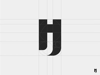 jh logo design. (grid)  negative branding jh design logo