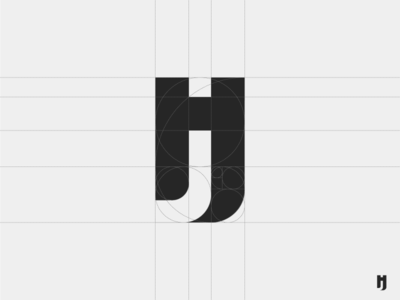 jh logo design. (grid)