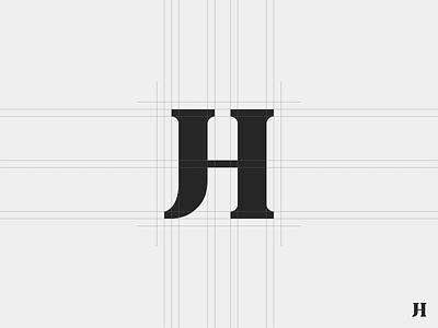 JH #2 serif lettering type bold branding jh design logo