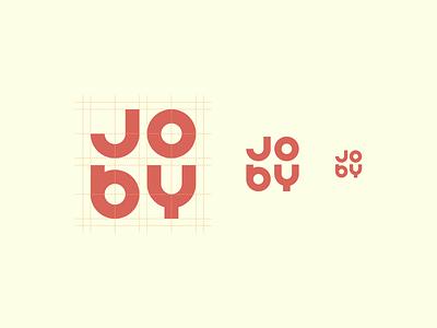 Joby lettering type bold branding joby design logo