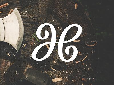 Ambigram bézier curves jhb hand lettering calligraphy cursive monogram logo jh h lettering