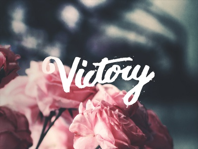 Victory hand lettering victory calligraphy cursive lettering