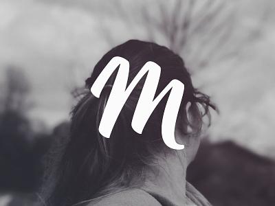 M for Molly brush lettering letter m letter vector bezier m lettering