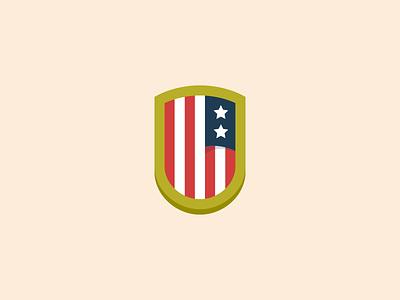 USA Badge flag symbol logo icon design badge usa
