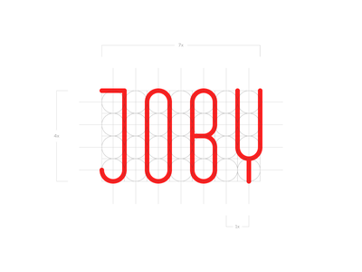 Joby Type text grid joby type design branding logo