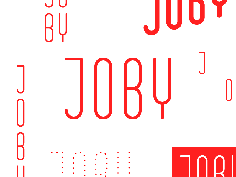 Different Types text grid joby type design branding logo