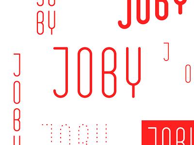 Different Types text grid joby type design branding logo