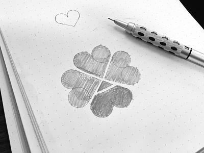 Ace Of Hearts logo hearts ace sketch