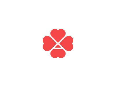Ace Of Hearts heart mark design branding logo