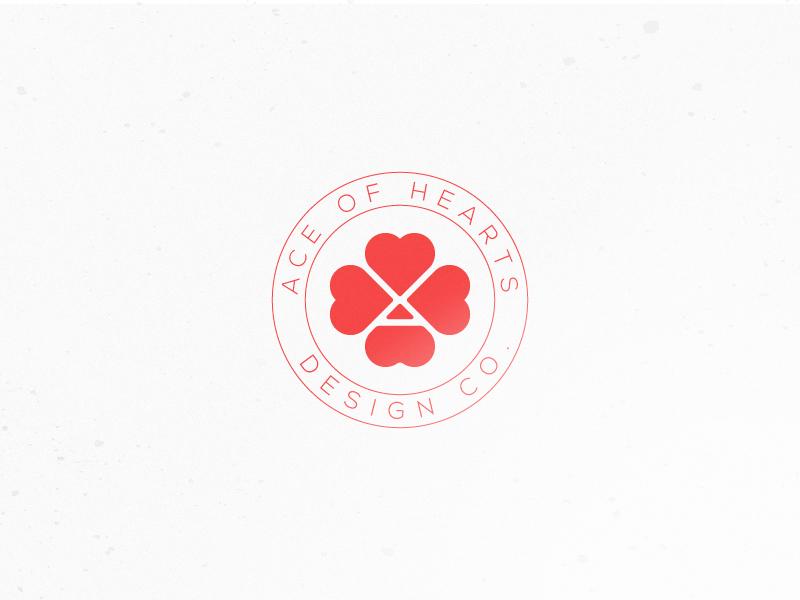 Ace Of Hearts vector typography illustration branding logo design