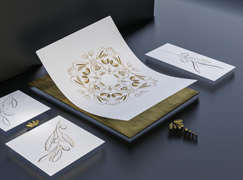 The Pattern graphic design illustration branding blender3d procreate