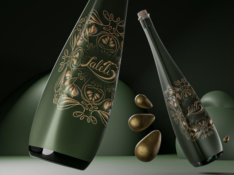 The Edible Gold 3d graphic design branding