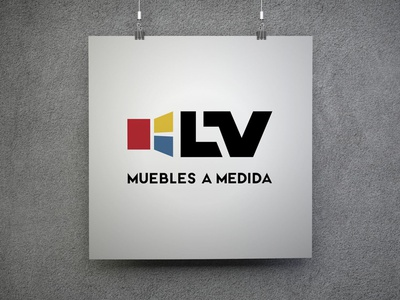 LV Muebles a Medida logo design branding
