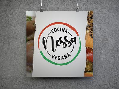 Nessa Cocina Vegana logo design branding