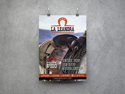 Banner La Leandra illustration design branding