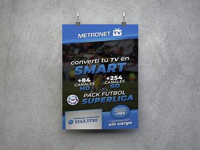 Banner Metronet TV 01 illustration design branding