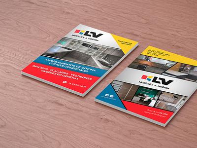 Flyer LV Muebles a Medida illustration design branding