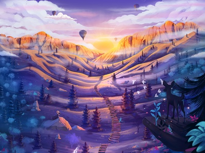 Artelier Web Illustration environment art environment illustration web illustration
