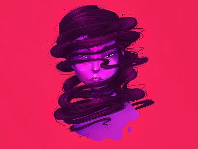 Neewa, The Purple Girl procreate art procreate app ipadproart ipadpro procreate character design fantasy character illustration